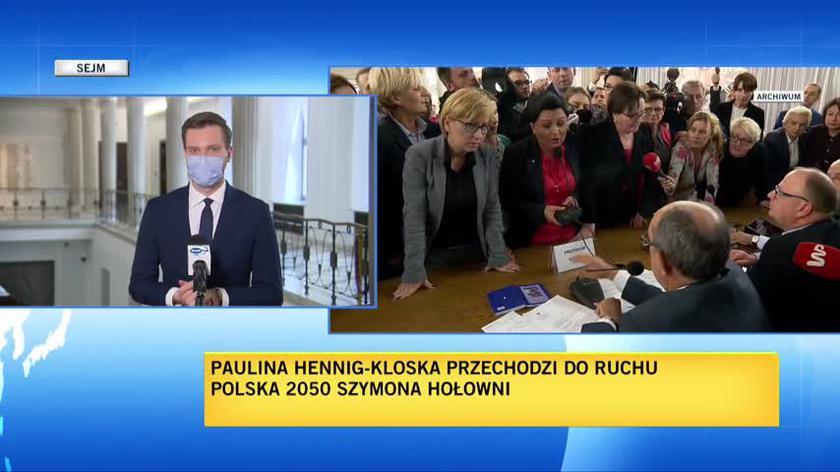 Przejście Hennig-Kloski do Ruchu Polska 2050 oznacza możliwość utworzenia koła poselskiego ugrupowania w Sejmie