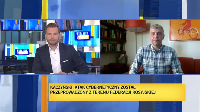 Robert Zieliński o oświadczeniu Jarosława Kaczyńskiego w sprawie cyberataków
