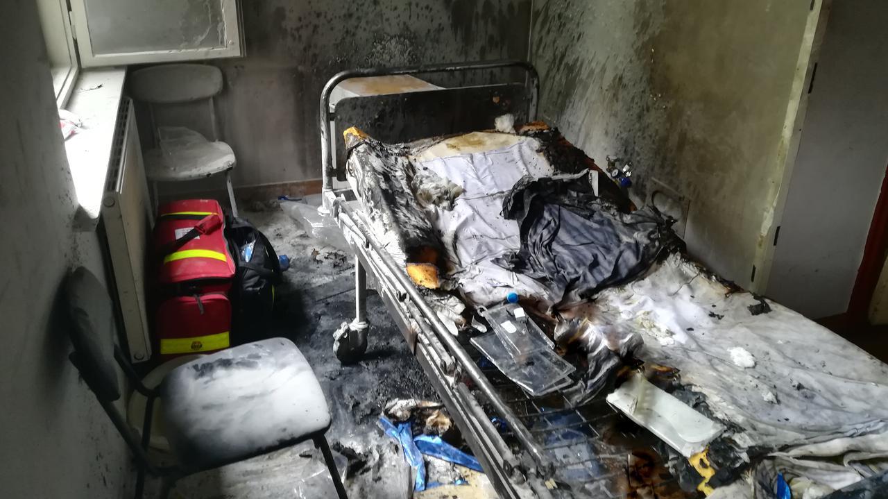 Pożar w szpitalu, pacjentka ciężko poparzona