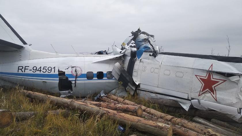 Rosja. Katastrofa samolotu w Tatarstanie, zginęli spadochroniarze - TVN24