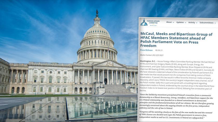 Lex anty-TVN. Amerykańscy kongresmeni apelują do polskich władz w sprawie nowelizacji ustawy medialnej