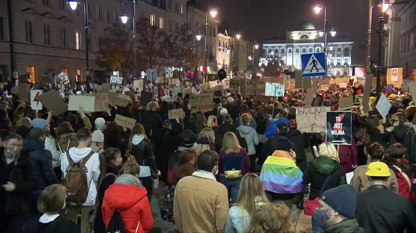 Młodzi protestują na ulicach