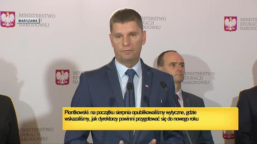 Minister Piontkowski o przygotowaniu szkół do 1 września