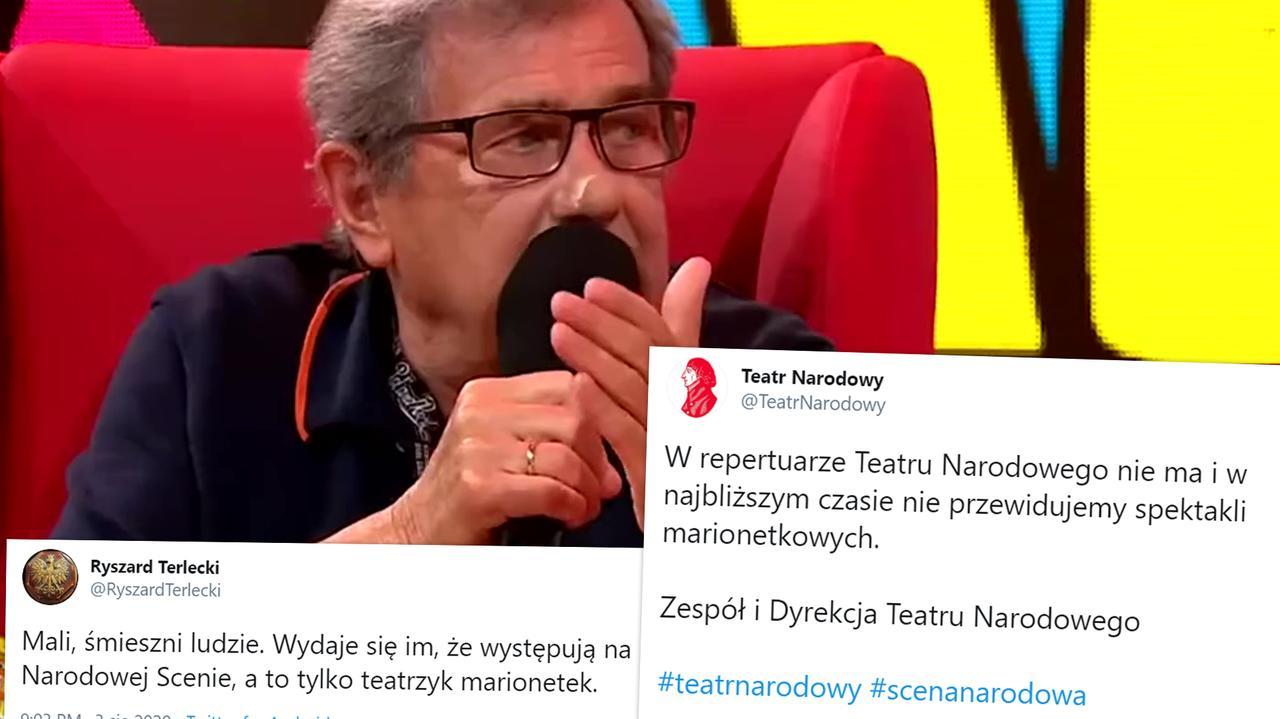 Janusz Gajos o Jarosławie Kaczyńskim. Komentarze polityków  - TVN24