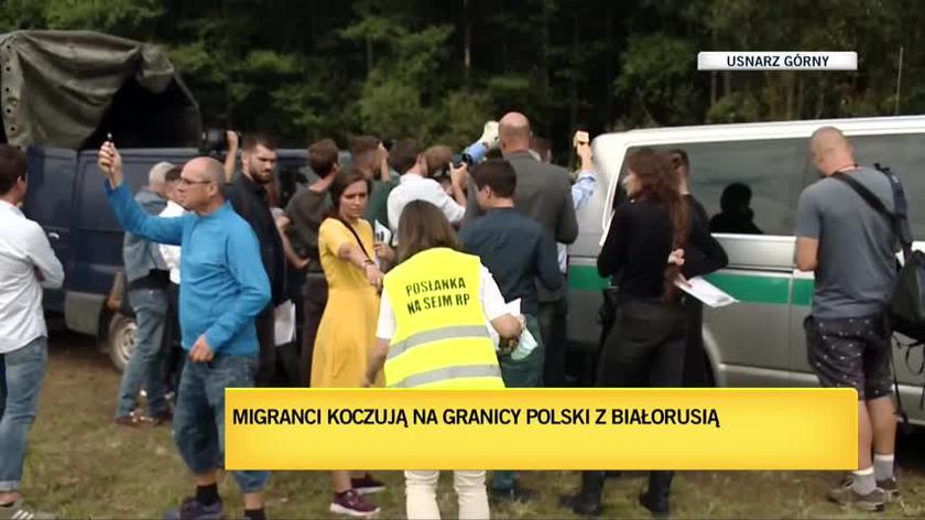 Migranci w Usnarzu Górnym. Pełnomocnicy wnoszą o objęcie ich ochroną międzynarodową