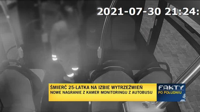 Nagranie z kamer monitoringu wrocławskiego autobusu