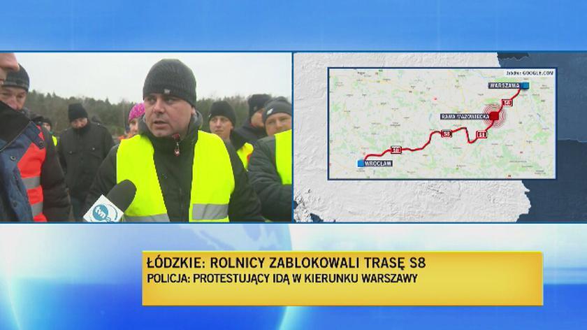 Protestujący chcą iść na Warszawę
