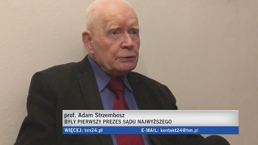 Prof. Adam Strzembosz o wpływie polityków na sądy