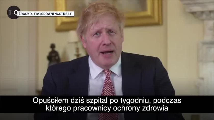 Boris Johnson opuścił szpital