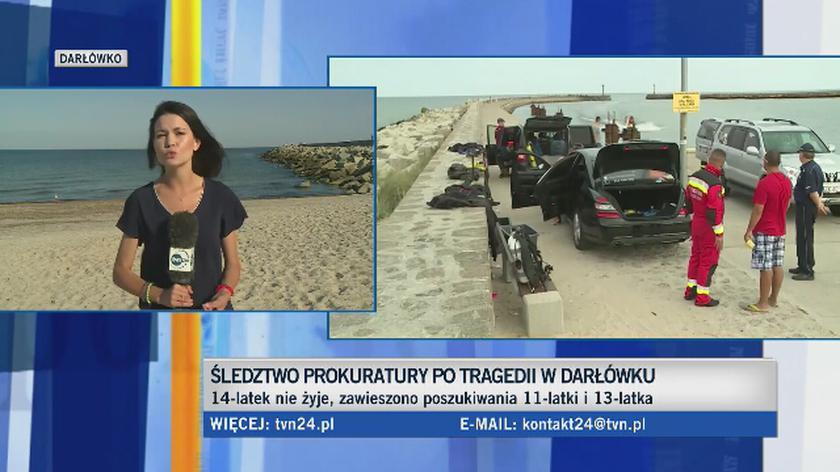 Akcja poszukiwacza dwojga dzieci, które zaginęły we wtorek na plaży w Darłówku Zachodnim