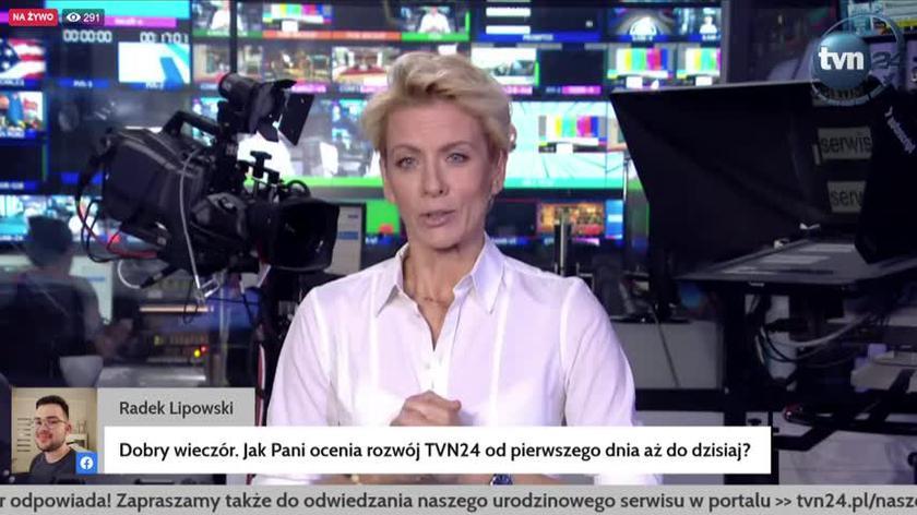 Jak Pani ocenia rozwój TVN24 od pierwszego dnia aż do dzisiaj? Anita Werner odpowiada