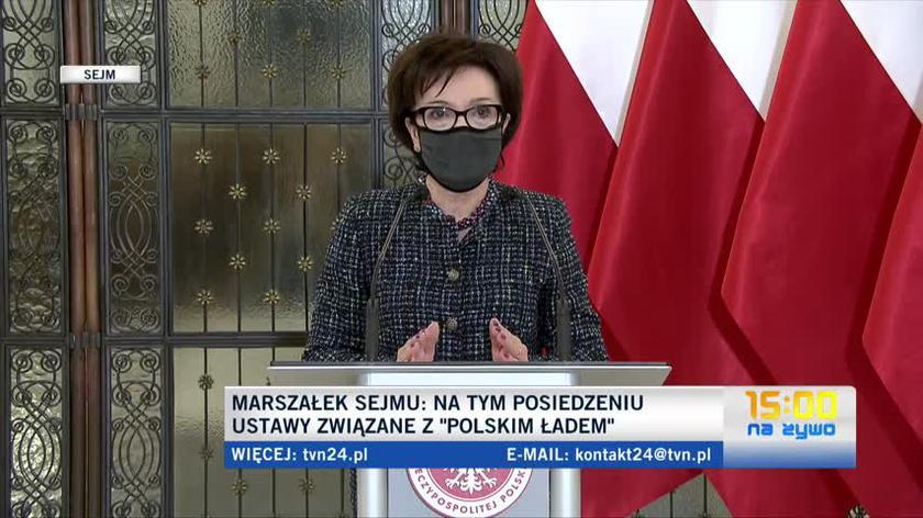 Marszałek Elżbieta Witek o reasumpcji i opiniach prawnych