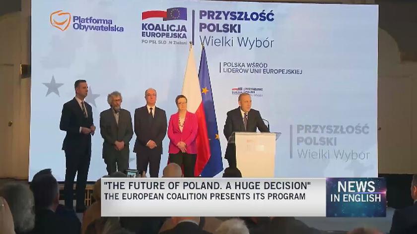 Poland's opposition European Coalition set EU election campaign slogan