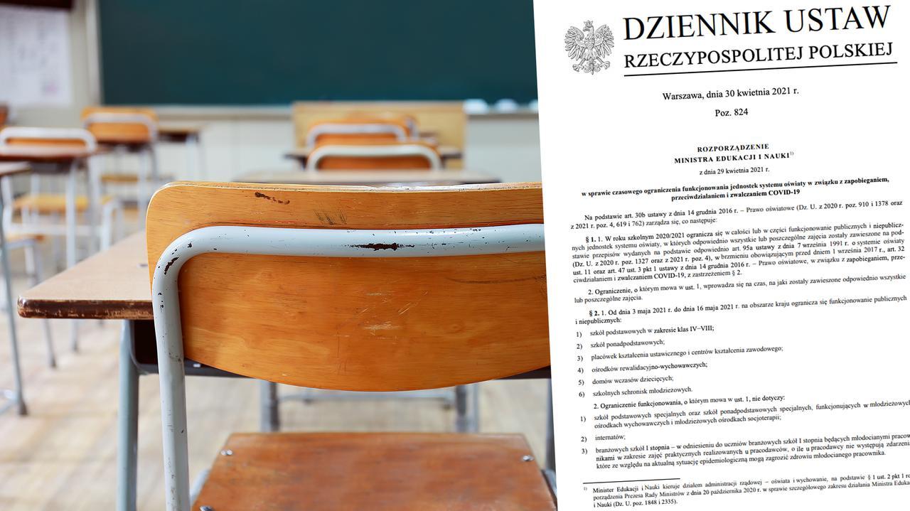 Harmonogram powrotu uczniów do stacjonarnej nauki. Rozporządzenie opublikowane