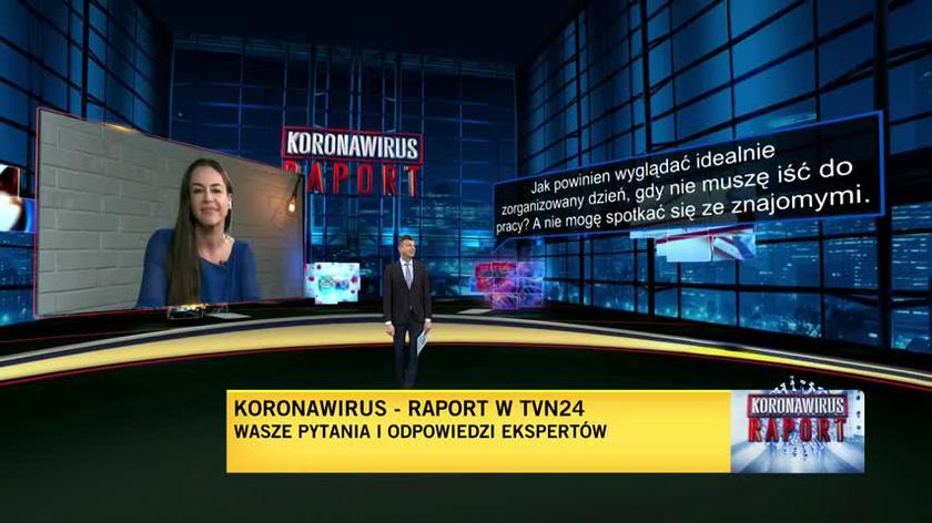 """Jak powinien wyglądać idealnie zorganizowany dzień? Maria Rotkiel w """"Koronawirus. Raport"""""""