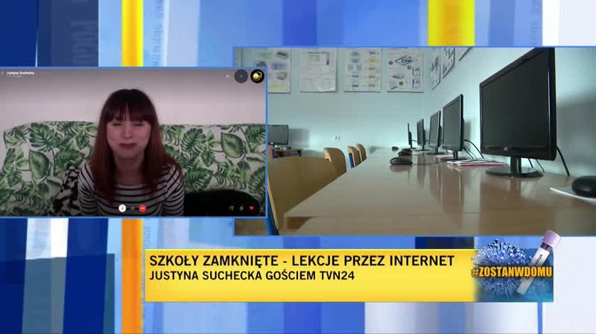 Justyna Suchecka o lekcjach przez internet