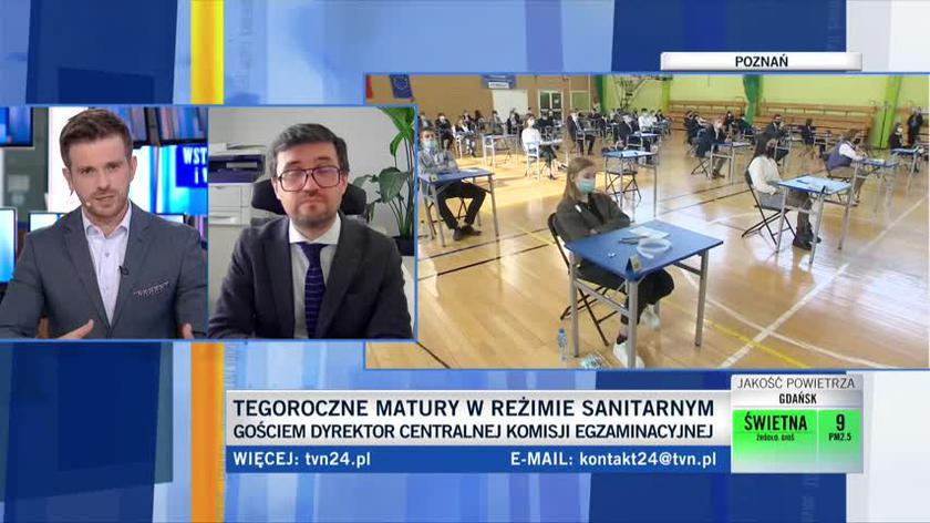 Dyrektor CKE Marcin Smolik o reżimie sanitarnym podczas egzaminów maturalnych