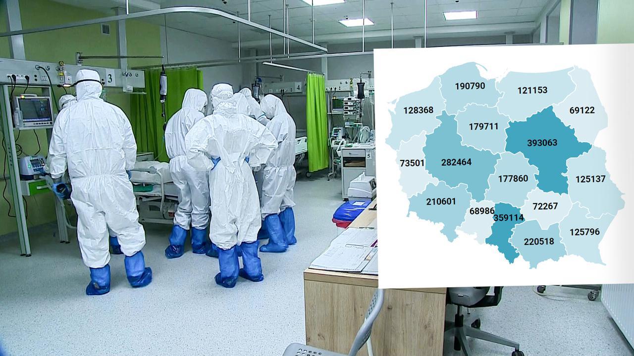 Koronawirus w Polsce. Mapa zakażeń. Ile szczepień wykonano