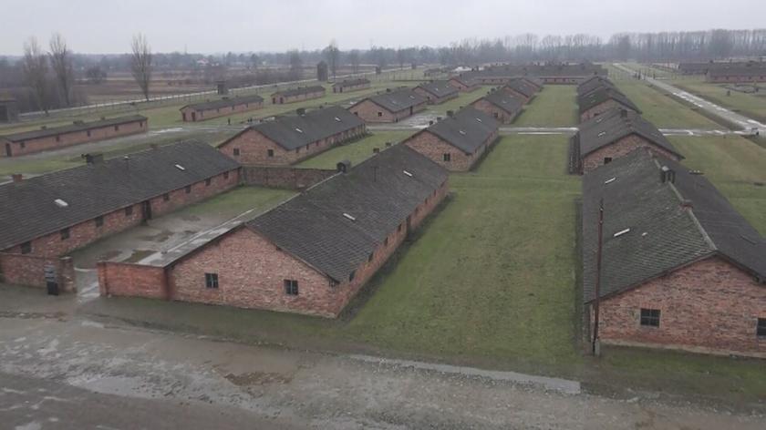 Obóz Auschwitz-Birkenau. Film z drona