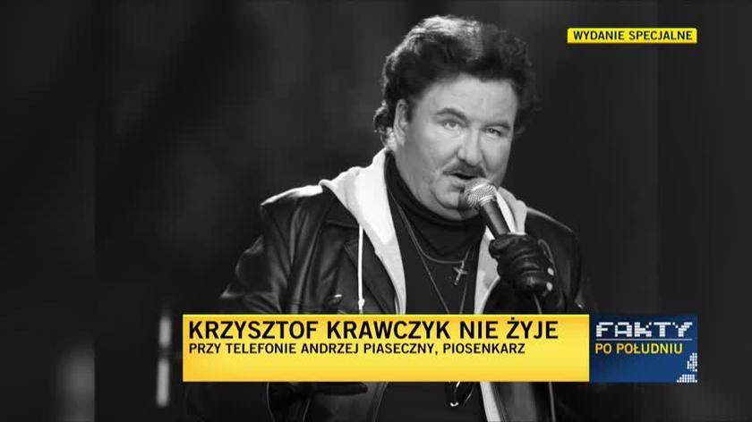 Andrzej Piaseczny o Krzysztofie Krawczyku: dziękuję za to, że mogłem być przez chwilę na orbicie jego słońca