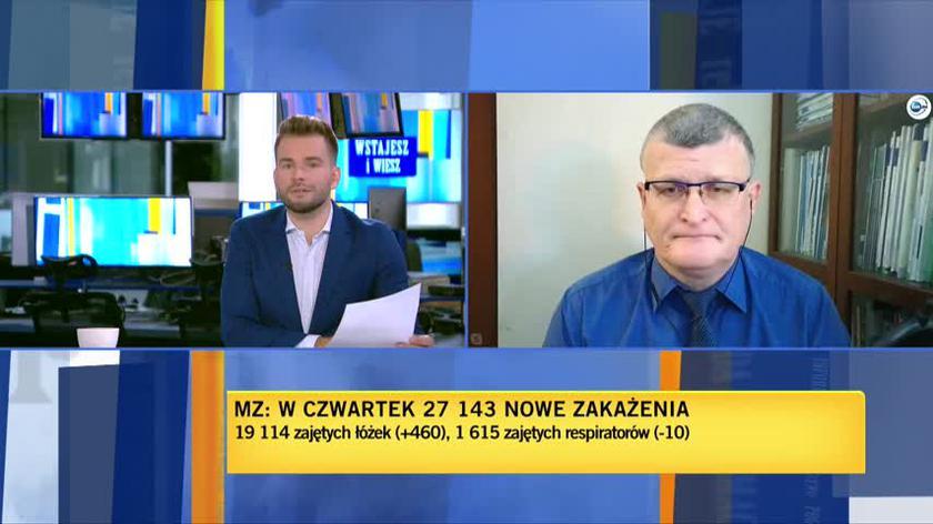 Grzesiowski: epidemia weszła w taką fazę, że najwięcej zakażeń jest w domach, wśród członków rodzin