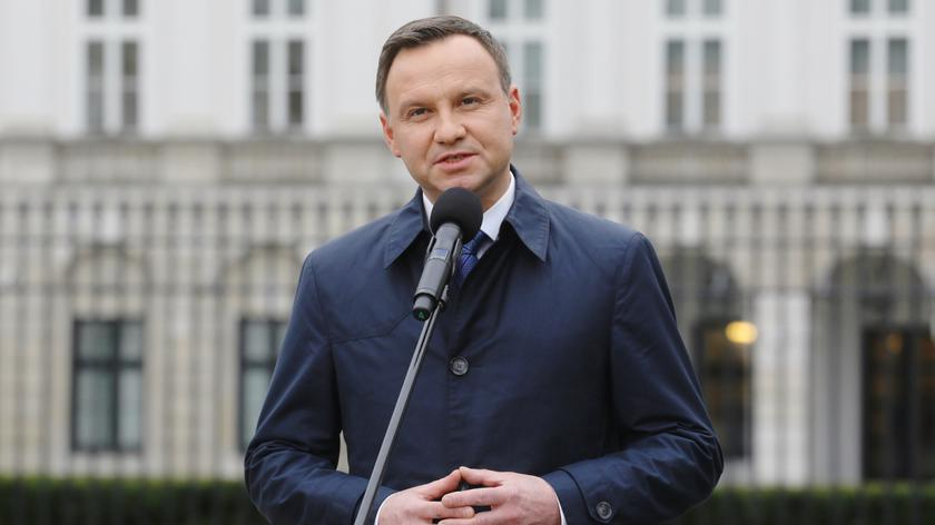 Andrzej Duda wygłosił swoje przemówienie przed Pałacem Prezydenckim