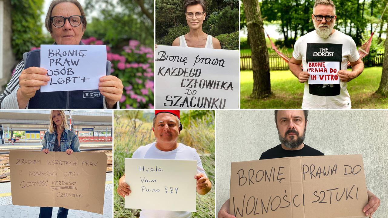 Ludzie kultury, aktorzy, artyści, dziennikarze dołączają do akcji
