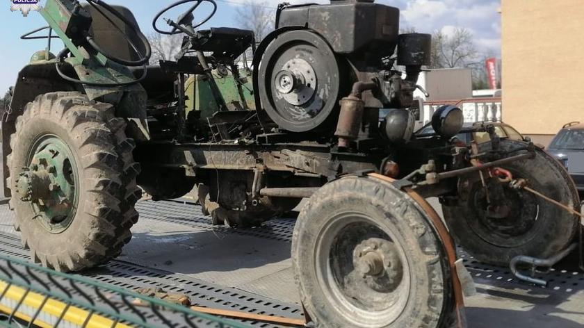 Policja zatrzymała pijanego traktorzystę we Frampolu na Lubelszczyźnie