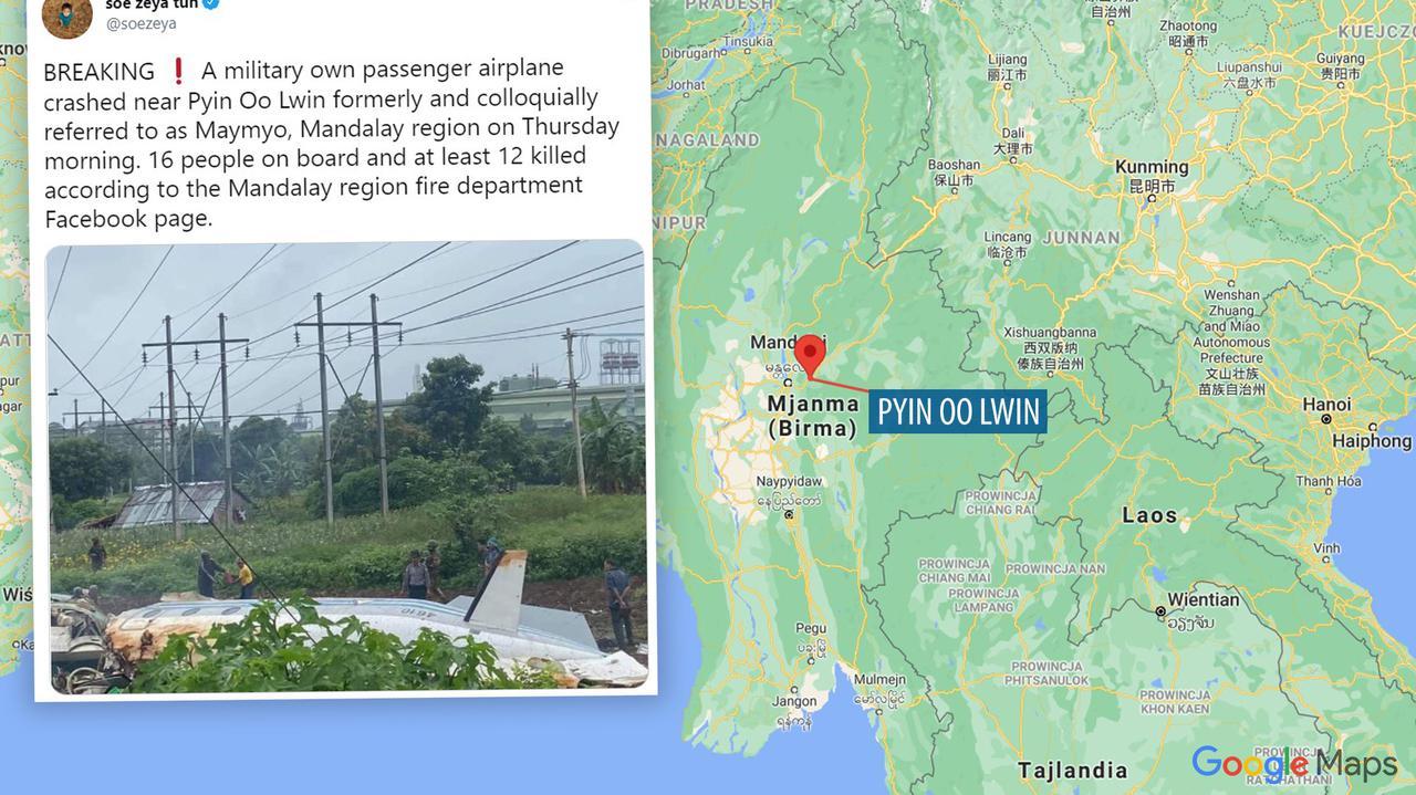 Samolot wojskowy rozbił się podczas lądowania. Media: przeżyli tylko pilot i pasażer