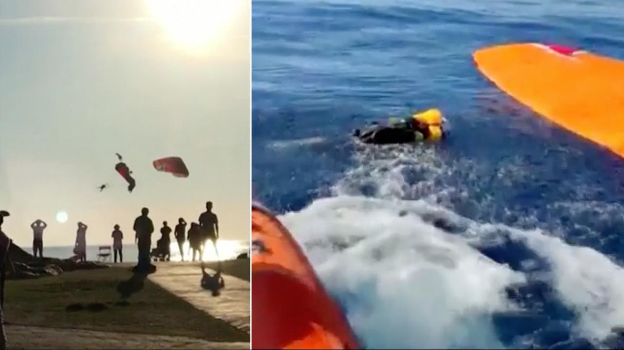 Zderzyli się w powietrzu, wpadli do morza. Jest nagranie
