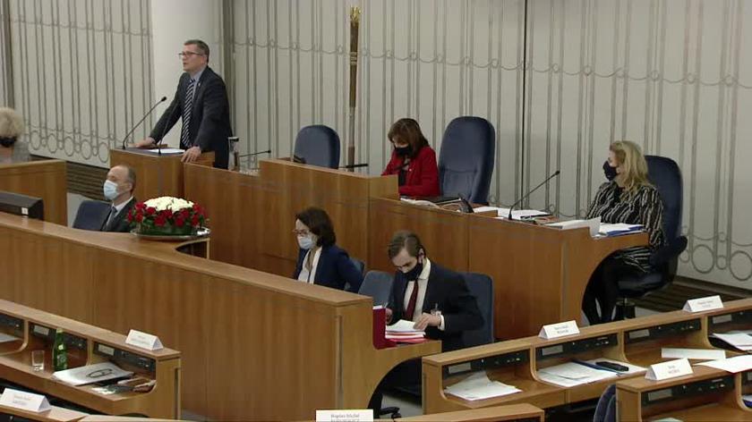 Bosacki podczas senackiej debaty nad uchwałą