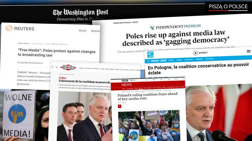 """BBC o """"chaosie"""" w polskim rządzie i """"strzępiącej się"""" koalicji"""