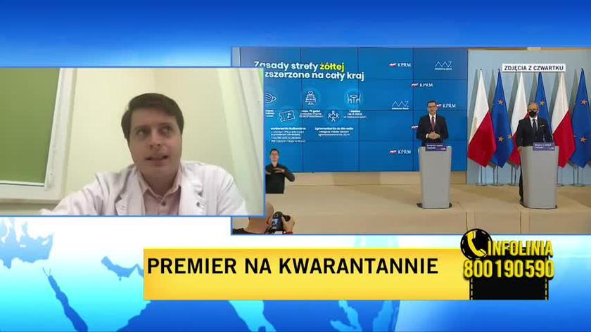 Doczekalski: test wykonany dziś przez premiera nie będzie rozstrzygający