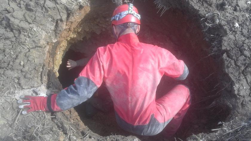 Specjaliści weszli do jaskini. Znaleźli wapień sprzed milionów lat