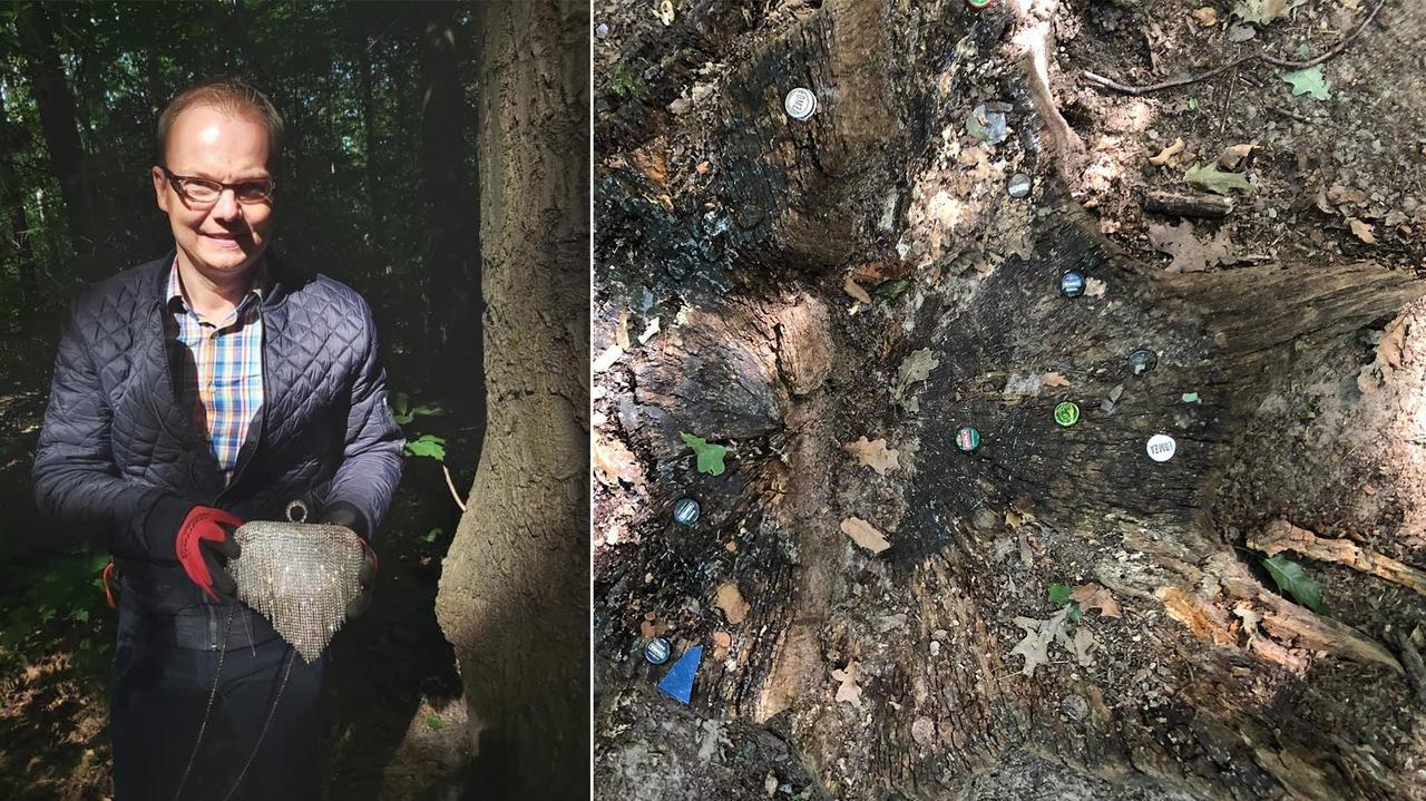 Burmistrz sprzątał las, wykopał torebkę z biżuterią