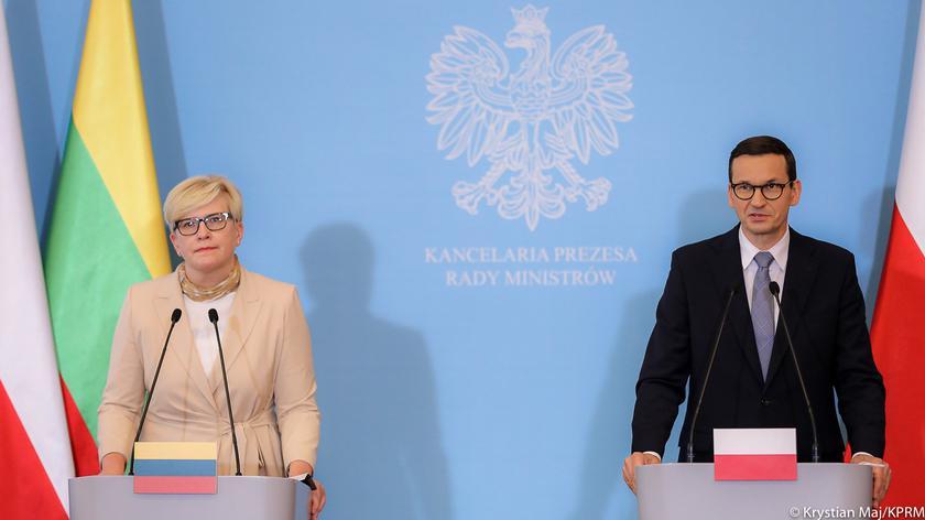 Mateusz Morawiecki na wspólnej konferencji prasowej z premier Litwy Ingridą Szimonyte