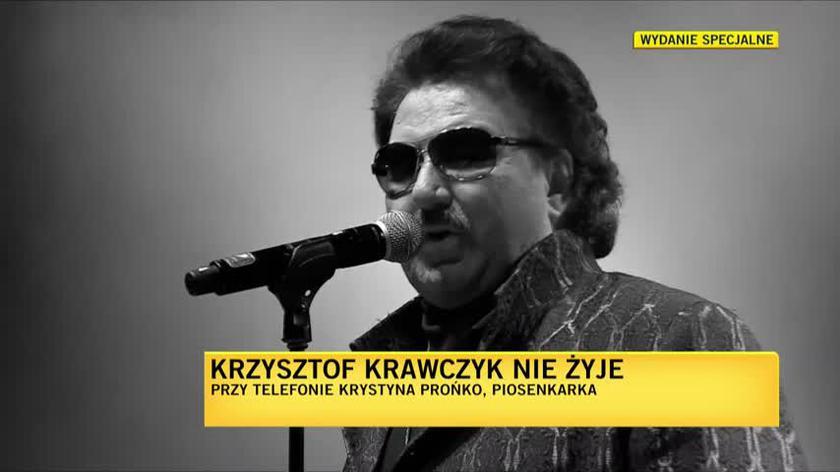 Krystyna Prońko: Krzyszot Krawczyk potrafił zaśpiewać wszystko