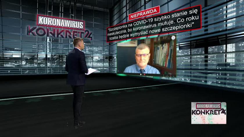Szczepionka na COVID-19 szybko stanie się nieskuteczna, bo koronawirus mutuje? Doktor Paweł Grzesiowski odpowiada