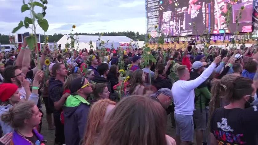 Przysięga  festiwalowiczów podczas Pol'and'Rock Festival 2021