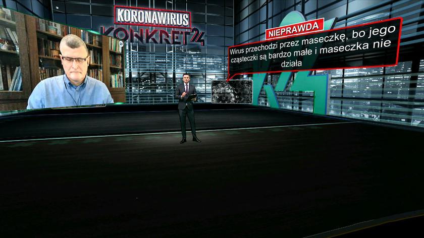 Dr Grzesiowski: maska jest jak parasol - chroni nas przed wirusem