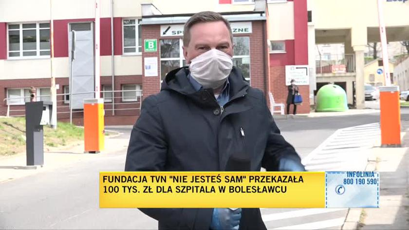 """Wsparcie dla szpitala od Fundacji TVN """"Nie jesteś sam"""""""