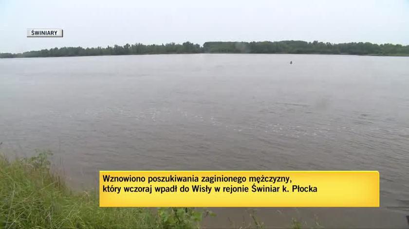 Świniary: Poszukiwania na Wiśle. Nieoficjalnie: zaginiony to starosta płocki Mariusz Bieniek