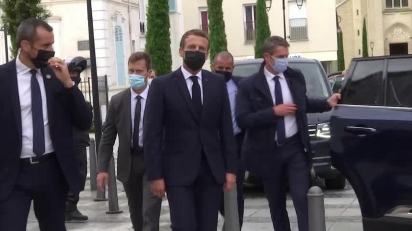 Prezydent Emmanuel Macron