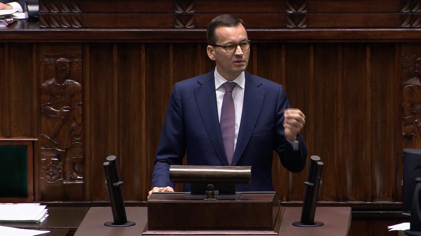 Całe przemówienie premiera Mateusza Moarwieckiego w Sejmie