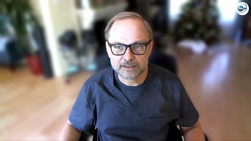 Mariusz Wirga, lekarz zaszczepiony w USA: chcę zabezpieczyć siebie i żonę najlepiej jak potrafię