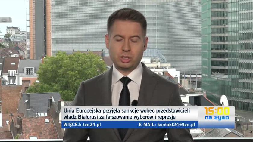 Korespondent TVN24 o unijnych sankcjach wobec przedstawicieli władz Białorusi
