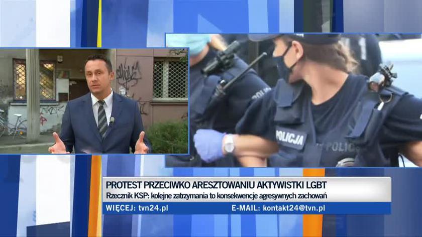 Zatrzymania osób biorących udział w proteście przeciwko aresztowaniu aktywistki LGBT