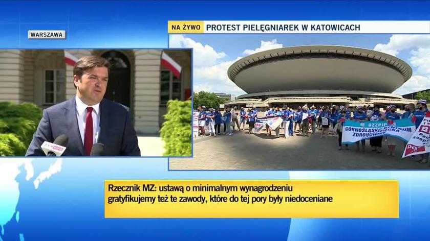Wojciech Andrusiewicz o strajku pielęgniarek i położnych