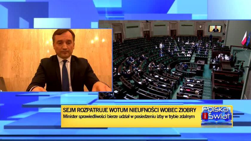 Ziobro: ze smutkiem obserwuję, że opozycja angażuje się we wsparcie działań, które nie mają nic wspólnego z porządkiem prawnym