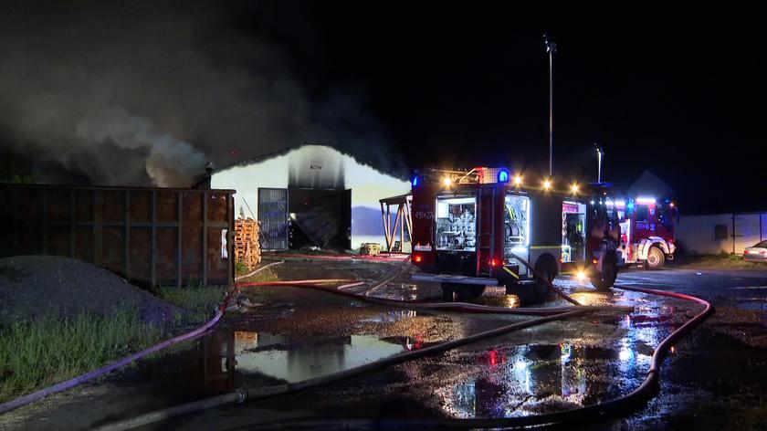 Dwa pożary w okolicy Gryfina tej samej nocy